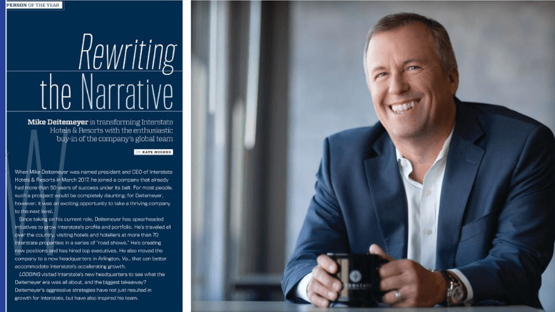 LODGING Magazine's 2018 Person of the Year: President & CEO Mike Deitemeyer