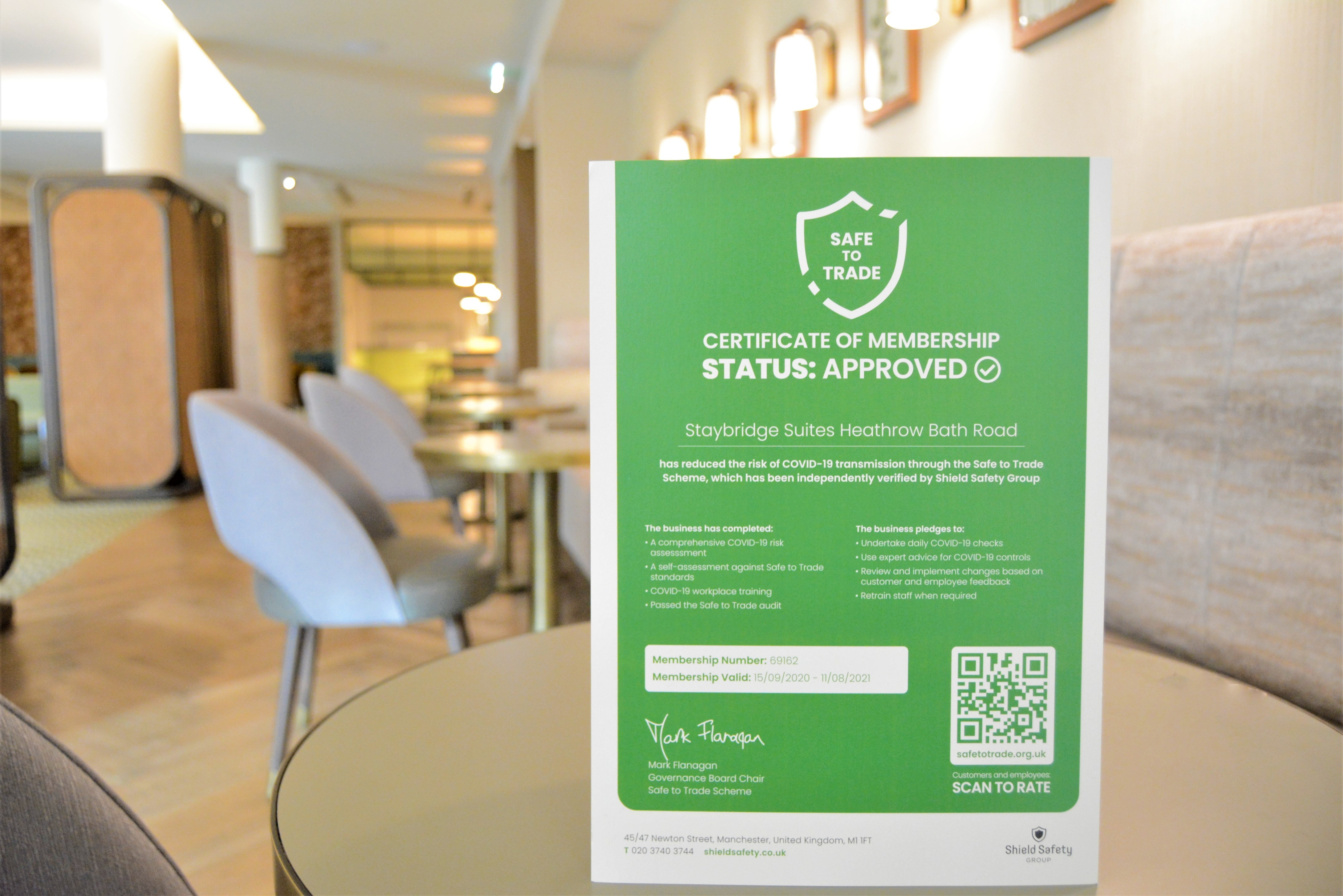 Interstate Hotels & Resorts Signs Up to Safe to Trade Scheme